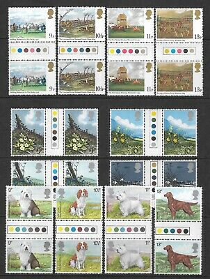 1979 Post Office Three Sets Of Gutter Pairs Of Stamps & Traffic Lights - Postage