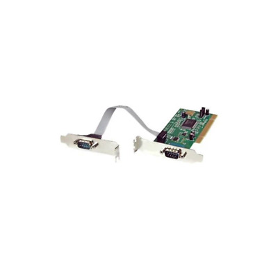Startech 2 Port Pci Low Profile Rs232 Serial Adapter Card