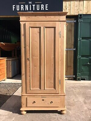Antique Country Pine Single Wardrobe