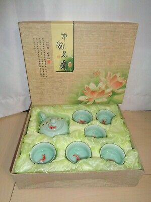 Porcelain tea set in Chinese fish set ceramic tea pot Kung Fu tea sets tea cups