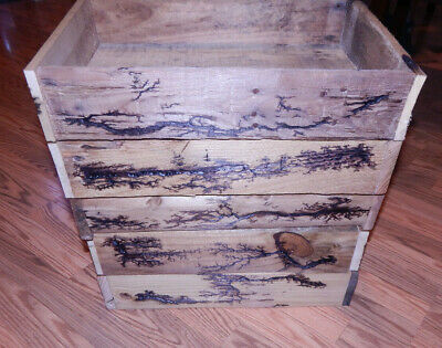 Reclaimed Lightning Pallet wood Crate/Box