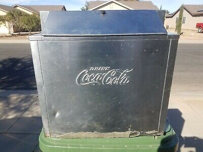 Vintage Coca Cola Embossed Selmix Large Stainless Steel Dispenser; VERY RARE!