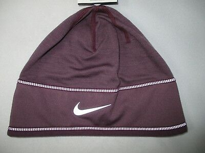 Nike Womans Dri Fit Fleece Lined Running Hat/ 3M Reflective Detailed Stiching