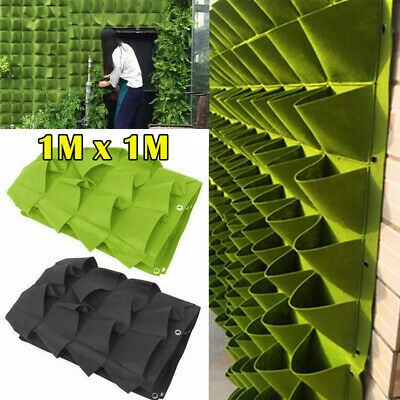 72 Pocket Garden Planting Bag Hanging Wall Vertical Planter Hanging Flower Herb