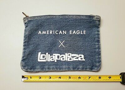 Lollapalooza Promo Concert Denim Bag Clutch American Eagle Stash makeup