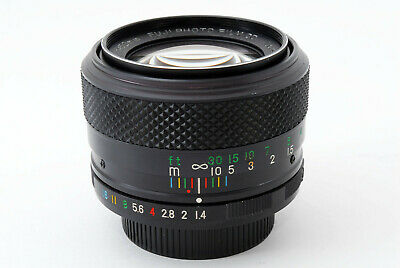 """Rare""[AS IS] Fuji EBC Fujinon 50mm f/1.4 MF Lens for M42 From Japan"