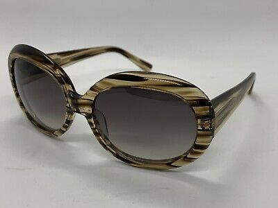 Vera Wang Sunglasses V232 Suede Horn Brown Tan 54-16-135