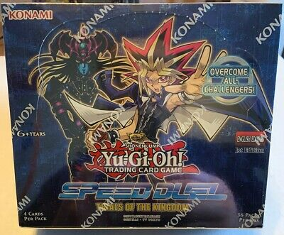 YuGiOh Speed Duel Trials of the Kingdom Booster Box New 1st Edition English