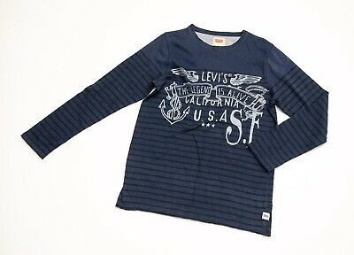 IMMACULATE boys 'LEVI STRAUSS & CO' LONG SLEEVE T-SHIRT age 12