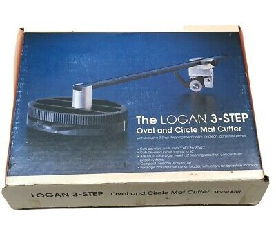 The Logan Model 201 3-STep Oval & Circle Mat Cutter - Made in USA
