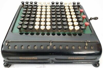 Antigua CALCULADORA BURROUGHS de 1917 RECHENMASCHINE antique CALCULATOR