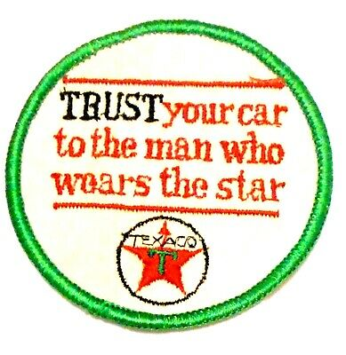 "Texaco Trust Gasoline Patch Embroidered Oil 3"" inches Original Vintage"