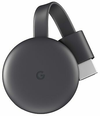 Google Chromecast 3 Smart TV dongle Full HD HDMI Carbon - GA00439-NO