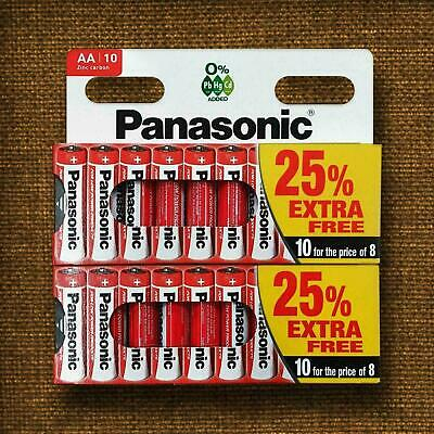 20 X AA Genuine Panasonic Batteries LR6 MN1500 E91 1.5V Battery EXPIRY 2022 UK