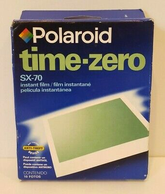 POLAROID SX-70 Instant Film - Time Zero Pack - Unopened - EXP 05/02
