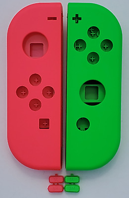 Genuine Nintendo Switch Neon Pink + Neon Green Left & Right Joy Con Shells!
