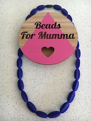 Silicone Necklace (was teething) Sensory Beads Jewellery Aus Gift Mum Sale