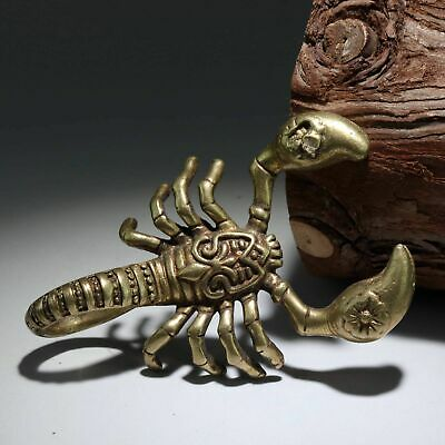 Collectable China Old Bronze Hand-Carved Vicious Scorpion Delicate Vivid Statue