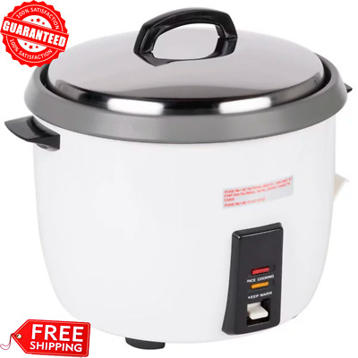 Heavy Duty Commercial Rice Cooker & Warmer NonStick Large Capacity (30 Cups Raw)