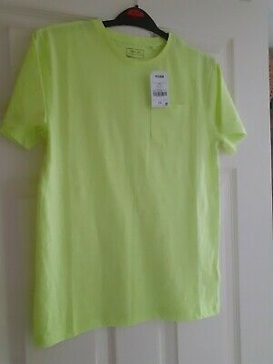 Two Next Boys Fluro T Shirts Next BNWT Orange Yellow Age 11 Years