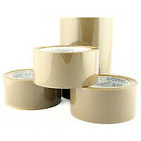 Q-Connect Packaging Tape Low Noise Brown - Kf04381