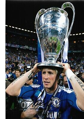 FERNANDO TORRES Hand Signed SPAIN & CHELSEA Autograph Photo - Authentic  Real
