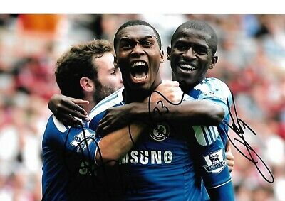 MATA, STURRIDGE AND RAMIRES  Hand Signed CHELSEA Autograph Photo - Authentic