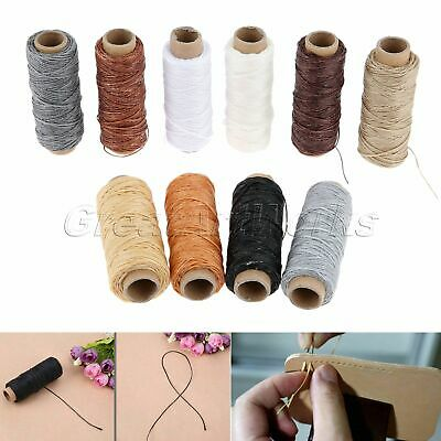 10 Roll 50m 150D Flat Sew Wax Line Fiber Thread Leather Sewing Supplies 10 Color