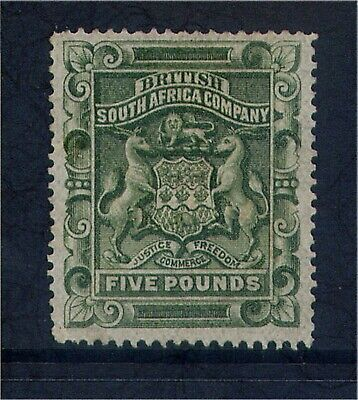 British South Africa Company (Rhodesia) QV £5 value Unused with Certificate