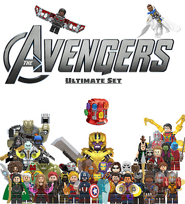 Marvel Super Heroes Avengers Ultimate Endgame 40 Minifigures Lot For Lego