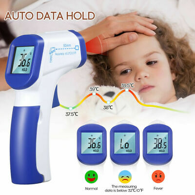 Digital Infrared IR Temperature Ear Forehead Body Thermometer Gauge Adult Kids