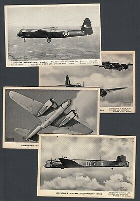 FORTY TWO Vintage Postcard Size Valentine's Aircraft Recognition Cards Plane