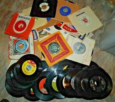 Great Vintage Lot of (50) 45RPM Records - for Jukebox or Your Collection  LOT 1