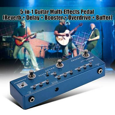 MOSKY RD5 Multi-Effect Guitar Reverb Delay Overdrive Booster Buffer Effect Pedal