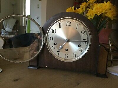 Westminster Chimes Mantle Clock Art Deco / Vintage Untested No Key See Details