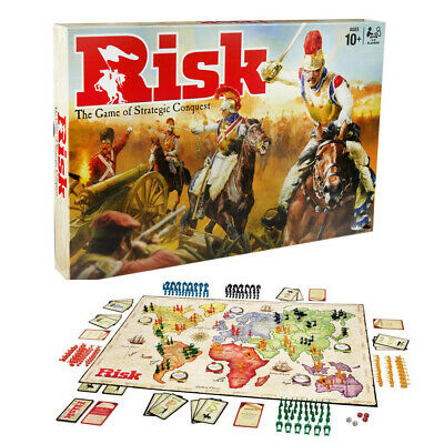 New*Risk Board Game Hasbro Strategic Fun Family Party Adult Games Gift Game card