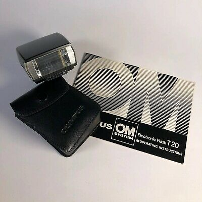Olympus Electronic Flash T20 With Soft Case & Manual