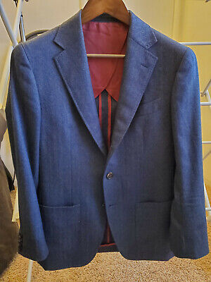 Spier and Mackay 36S Contemporary Wool/Cashmere Herringbone Sportcoat