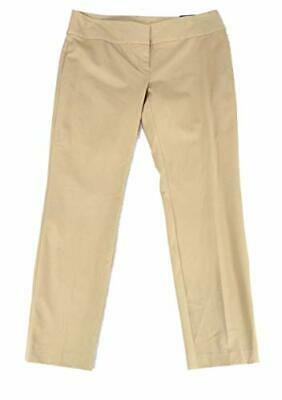 MSRP $60 Alfani Womens Dress Pants Slim Straight Leg Stretch Beige Size 12