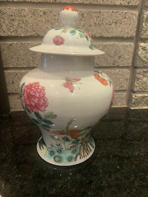 FINE 19TH - 18th Chinese Famille Rose Jar, Vase, Finely Enameled, Ginger