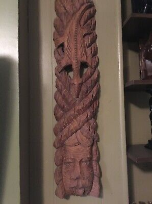 Vintage Wooden Genuine African Wall Hanging Crocodile Hand Carved Wall Decor