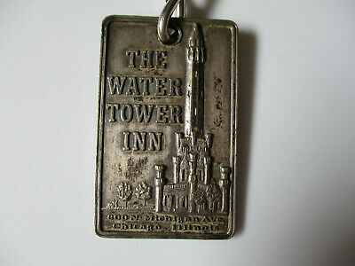 vintage 1950s The Water Tower Inn Chicago Illinois Hotel Room Key Fob Tag