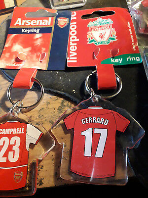Liverpool Fc Retro Keyring Gerrard 17 New Wrapped