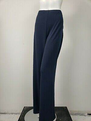 ALFANI Navy Blue Silky Matte Jersey Pull-On Wide Leg Pants sz 3X NWT $69.50