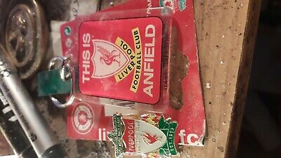 Liverpool Fc This Is Anfield  Key Ring+New Classic Liver Bird Enamel  Pin Badge