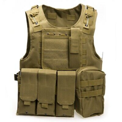 Airsoft Military Tactical Vest Molle Combat Assault Plate Carrier Hunting Vest