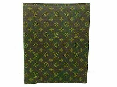 Authentic Louis Vuitton Monogram Book Cover PVC Leather Rare 79322