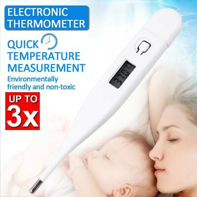 3x Baby Child Adult Body Digital LCD Heating Thermometer Temp Measurement Meter
