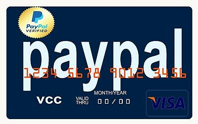 VCC Virtual Credit Card For paypal Verification