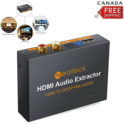 1080P HDMI to HDMI Converter SPDIF RCA Analog Audio Extractor Adapter USB Cable